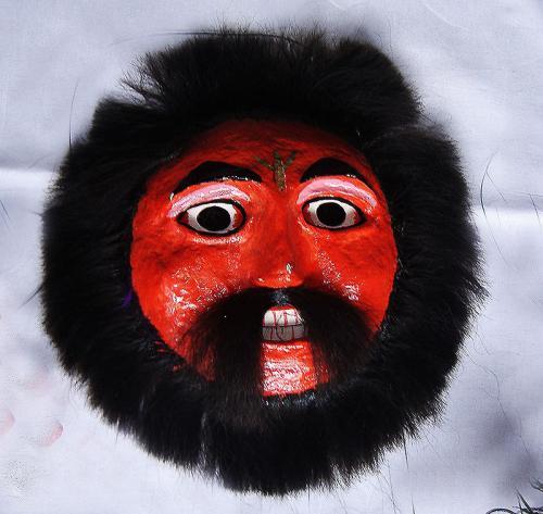 Budia mask by master puppet artist Pannalal Meghwal